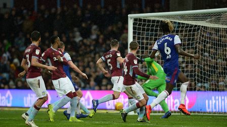 Trevoh Chalobah's second half header strikes the post at Aston Villa Picture Pagepix