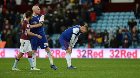 Ipswich Town captain Luke Chambers is left disappointed following Saturday's 2-1 defeat at Aston Vil