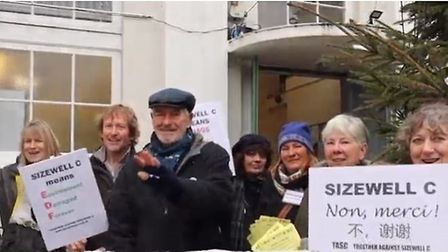 TASC members protesting over Sizewell C Picture: TASC