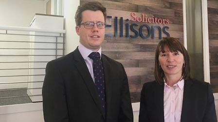 Partner and head of commercial property, Philip Roberts and Catherine Abbott, partner, Ellisons Soli