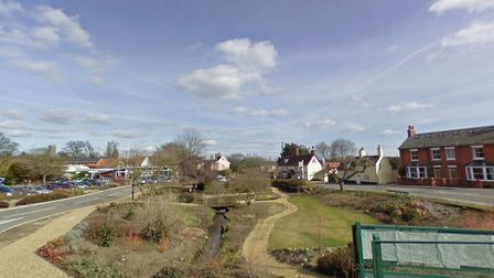 Two cars have collided outside Notcutts in Woodbridge Picture: GOOGLE MAPS