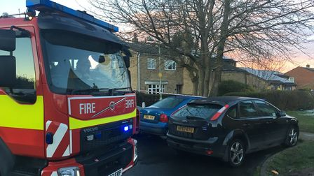 Around 15 firefighters were called to tackle the blaze in Lulworth Drive Picture: ARCHANT