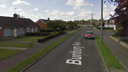 The incident happened at a property in Bunbury Avenue in Mildenhall Picture: GOOGLE MAPS