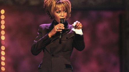 Whitney Houston performs during the Billboard Awards at the MGM Grand in Las Vegas on Dec. 7, 1998.