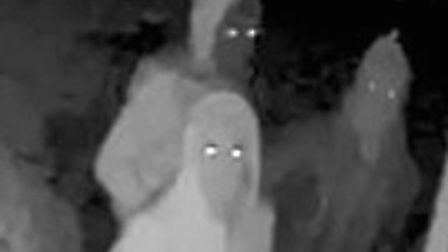Police would like to identify these three people in connection with a burglary in Cockfield Picture: