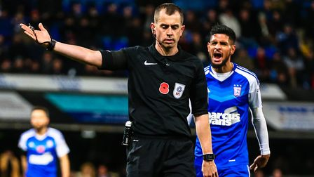 Peter Bankes will take charge of the East Anglian derby clash at Carrow Road on Sunday. Picture: STE