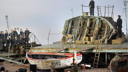 Peter Grimes on the beach at Aldeburgh. Picture: Gregg Brown