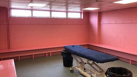 Norwich City have painted the away dressing room at Carrow Road pink this season. Picture: LEEDS UNI