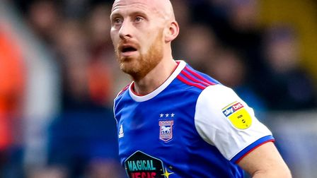 James Collins is fighting to be fit to face Norwich City on Sunday. Picture: STEVE WALLER WWW