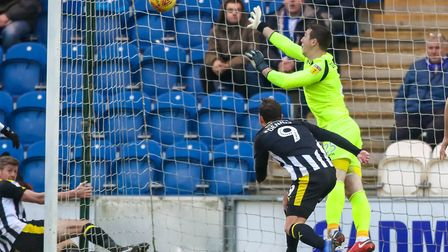 Keeper Rene Gilmartin has been in fine form for the U's, although he could not keep out this equalis