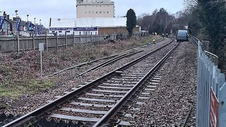 A van has been left on rail tracks near Beccles. Picture: BTP