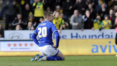 Freddie Sears after his first half chance was saved by Norwich keeper John Ruddy in 2015