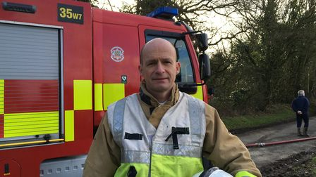Ian Mallet, group commander with Suffolk Fire and Rescue Service Picture: MARIAM GHAEMI