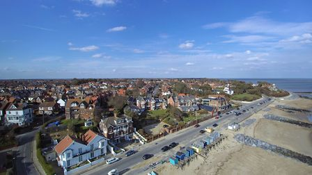 Undercliff Road East, Felixstowe from the air - Picture: DAVID MORTIMER