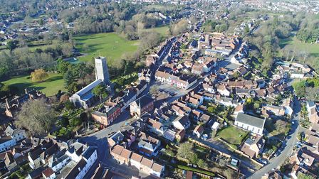 St Mary's Church, Woodbridge is at the heart of this image of the town Picture: DAVID MORTIMER