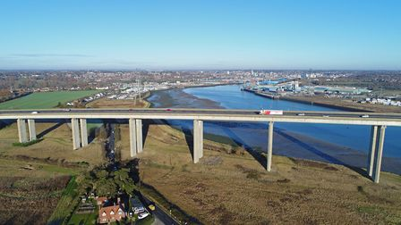The Orwell Bridge in Ipswich is sometimes closed in high winds Picture: DAVID MORTIMER