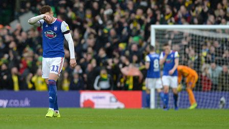 Ipswich are down and out at Carrow Road after the third score by Teemu Pukki Picture Pagepix