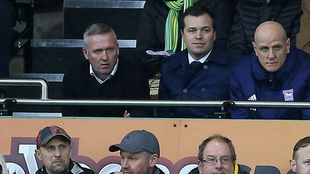 Paul Lambert, pictured watching from the stands after being sent off in Ipswich Town's 3-0 defeat at