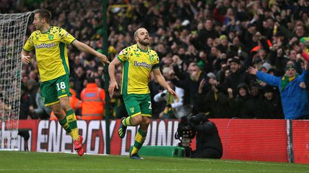Teemu Pukki scored twice to secure the win for Norwich. Picture: PA