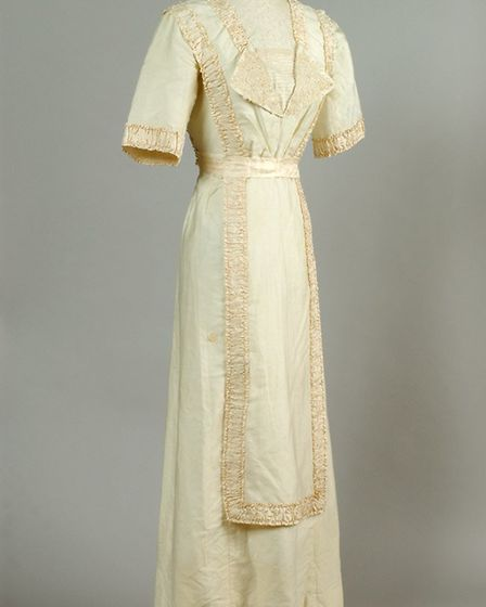 A wedding dress worn by a bride at Combs in c.1920 that is under the museum's care. Picture: MEAT