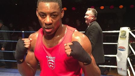 Aspiring boxer, and former Essex University student Dan Azeez, when he was an amateur boxer at the u