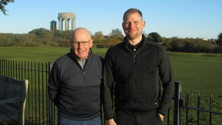 SOUTHWOLD WINNERS: Phil Fairbrother (left) and Andy Goodwin of Stowmarket who won the Suffolk Winter