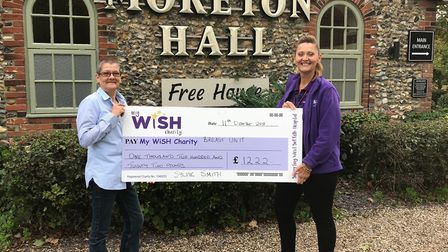 Sylvie Smith (left) with Sue Smith from the My WiSH Charity Picture: MY WISH