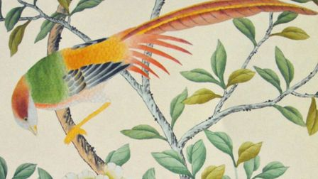 'A Chinoiserie silk design that inspired me' Picture: LIZ TRENOW