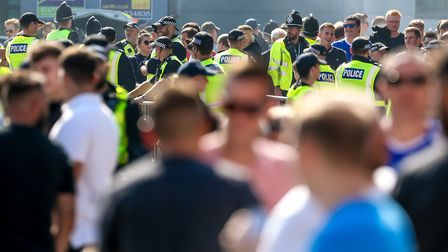 As usual, there will be a heavy police presence at the East Anglian derby. Picture: STEVE WALLER
