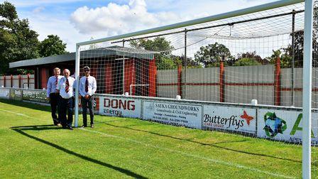 Improvements to Brightlingsea Regent's North Road ground, which were in July, 2017. Pictured are Ala