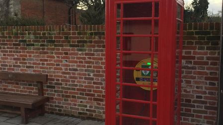The renovated phonebox owned by the Red Lion has now got a defibrilator which will be vital for the
