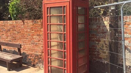 The Red Lion phonebox is part of the grade II listed building. Picture: JONATHAN PEACHEY