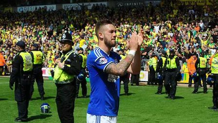 Ipswich Town captain Luke Chambers reflects on play-off defeat at Norwich City. Photo: Archant