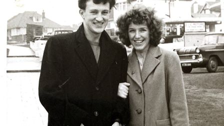 Jumbo and Delwyn Long on honeymoon in Brighton in 1959 Picture: LONG FAMILY