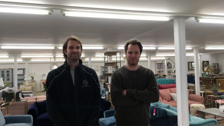 Tom and Jonathan Carter who run the store Picture: MARIAM GHAEMI