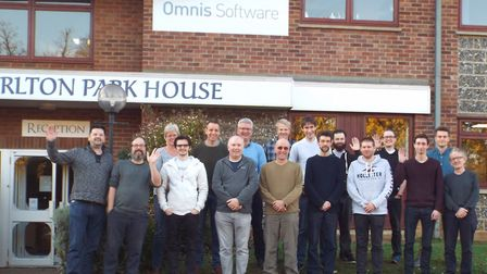Members of the Omnis Software team at Carlton Park, Saxmundham Picture: OMNIS SOFTWARE