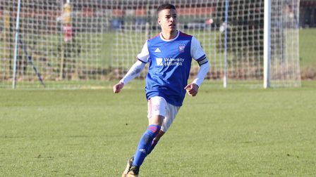 Tristan Nydam scored twice as Town U23s were beaten 4-3 at Palace Picture: ROSS HALLS