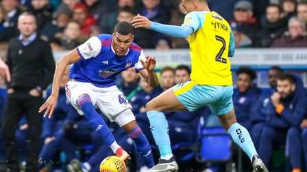 Collin Quaner in action for Ipswich Town. Picture: STEVE WALLER