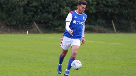 Town midfielder Idris El Mizouni scored a cracking goal against Crystal Palace. Picture: ROSS HALLS