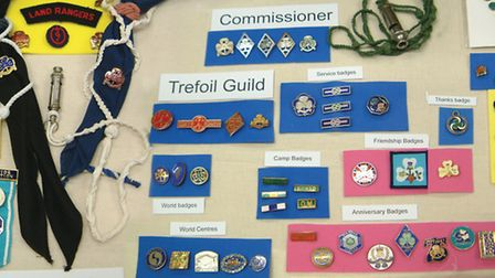 A range of badges owned by the Suffolk Girlguiding Archive Picture: NORTH WEST DIVISION SUFFOLK GIRL