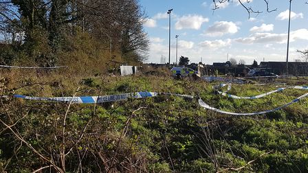 Police were called to the remains of the building yesterday afternoon Picture: ARCHANT