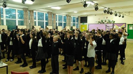 Year-six pupils at Sidegate Primary School enjoying an EARLY Minds session. Picture: SAM HICKS