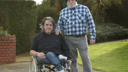 Carl Collins (left) with his brother Richard (right). Picture: SARAH LUCY BROWN