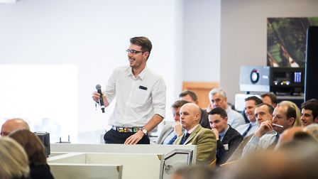 A delegate asks a question at the Sentry Farming Conference Picture: GAVIN KING PHOTOGRAPHY
