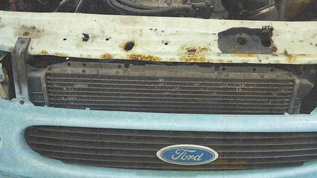 Photo showing the poor condition of the Worry Wagon Picture: CONTRIBUTED