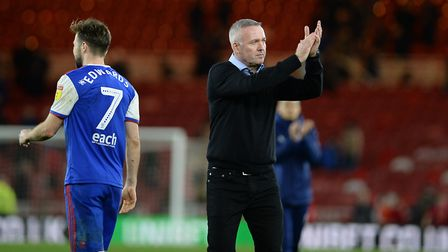A grim-faced Paul Lambert after defeat at Middlesbrough. Picture: Pagepix
