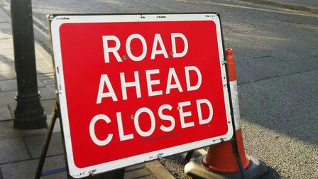 Fitzroy Street in Newmarket is closed while emergency roadworks are carried out.