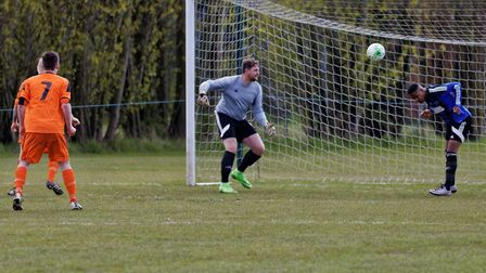 Nathan Woolard grabbed a brace for Cranes as they went top of the SIL Senior Division. Picture: PAUL