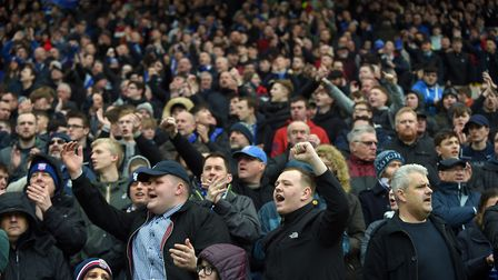 Around 2,000 Ipswich fans made the trip to Carrow Road. Picture: PAGEPIX LTD