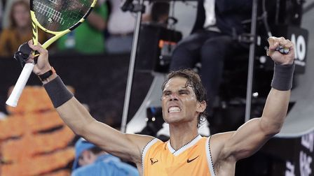 Rafa Nadal is on course for a final with fellow great Novak Djokovic in Australia. Picture: PA SPORT